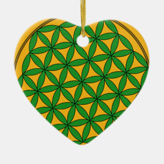 Prosperity9 Double-Sided Heart Ceramic Christmas Ornament