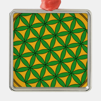 Prosperity9 Square Metal Christmas Ornament