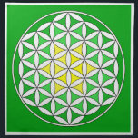 "Prosperity 12 cloth napkin<br><div class=""desc"">The flower of Life is used in all religions. It is considered sacred with healing energy within the symbol. Use for your crystal grids, sacred altars and for your personal use. Use your intuition to use the design for your particular intention or prayer. This design was created to use for...</div>"