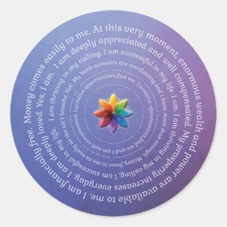 Prosperity Affirmations Sticker