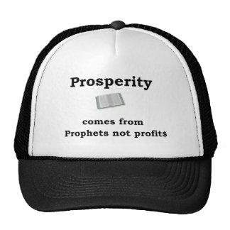 prosperity from prophets not profits trucker hat