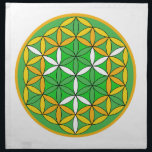 """Prosperity Grid Cloth<br><div class=""""desc"""">The flower of Life is used in all religions. It is considered sacred with healing energy within the symbol. Use for your crystal grids,  sacred altars and for your personal use. Use your intuition to use the design for your particular intention or prayer.</div>"""