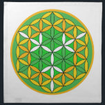 "Prosperity Grid Cloth<br><div class=""desc"">The flower of Life is used in all religions. It is considered sacred with healing energy within the symbol. Use for your crystal grids,  sacred altars and for your personal use. Use your intuition to use the design for your particular intention or prayer.</div>"