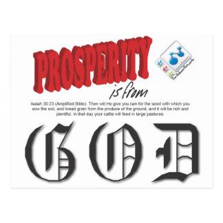 Prosperity is from GOD Postcard