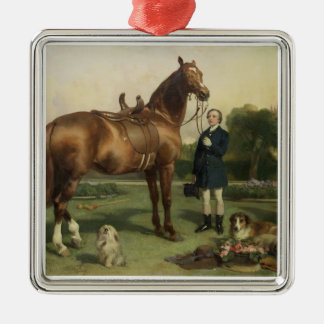Prosperity (oil on canvas) metal ornament