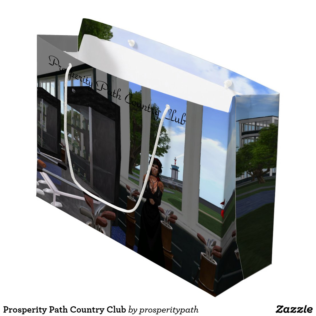 Prosperity Path Country Club Large Gift Bag