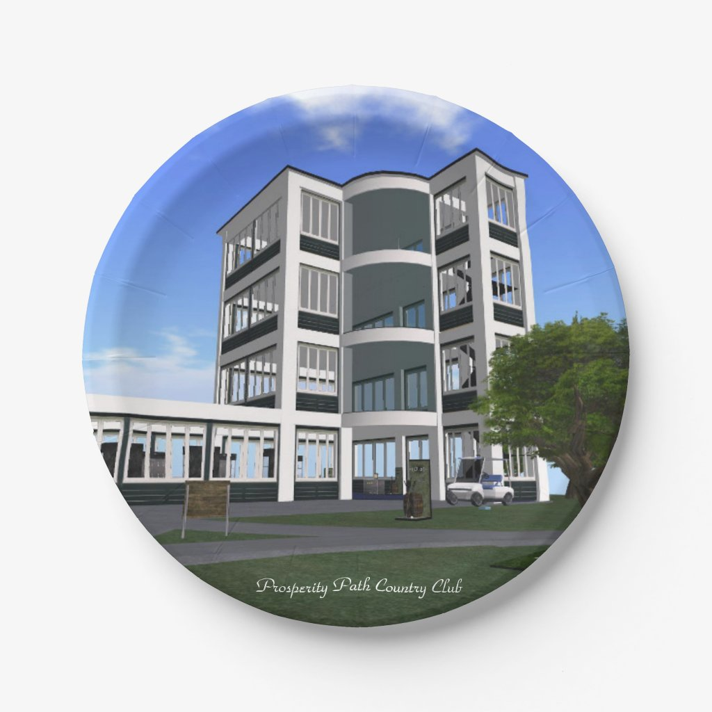 Prosperity Path Country Club Paper Plate