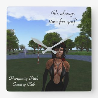 Prosperity Path Country Club Square Wall Clock