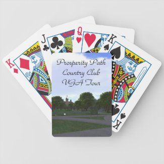 Prosperity Path Country Club VGA Tour Bicycle Playing Cards