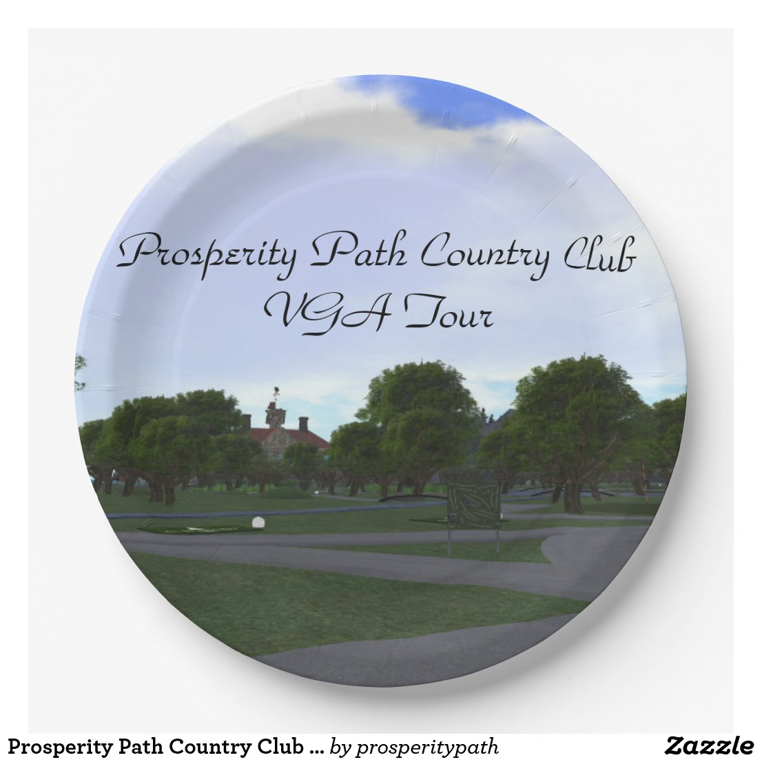 Prosperity Path Country Club VGA Tour Paper Plate