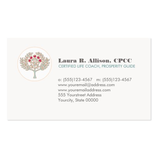 Prosperity Tree Wellness and Healing Arts Business Card Templates