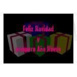 Próspero Año Nuevo de Feliz Navidad y Tarjeta De Felicitación