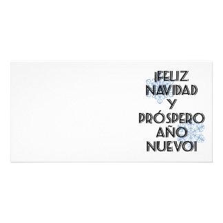 Prospero Ano Nuevo - tarjeta de Feliz Navidad Y de Tarjetas Fotográficas Personalizadas