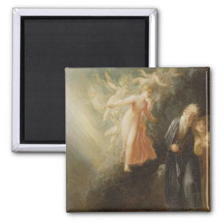 Prospero, Miranda and Ariel, from 'The Tempest', c 2 Inch Square Magnet