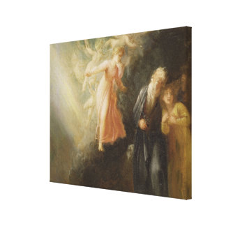 Prospero, Miranda and Ariel, from 'The Tempest', c Canvas Print