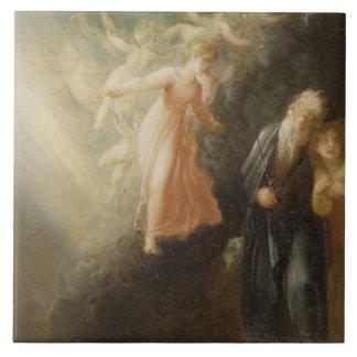 Prospero, Miranda and Ariel, from 'The Tempest', c Ceramic Tile