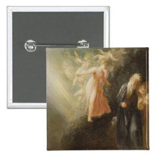 Prospero, Miranda and Ariel, from 'The Tempest', c Pinback Button