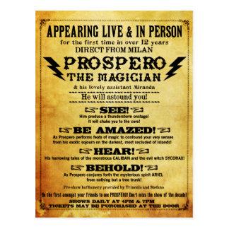 ¡Prospero! Postal shakesperiana del mago