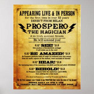 "¡Prospero! Poster 16"" del mago x 20"""