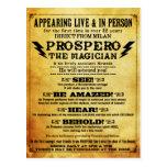 PROSPERO! Shakespearean Magician Postcard