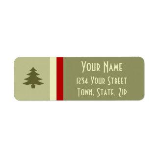 Prosperous Holiday Return Address Label