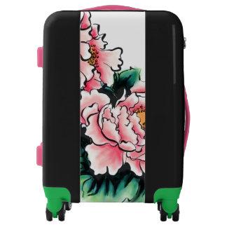 Prosperous Peony Flower Luggage