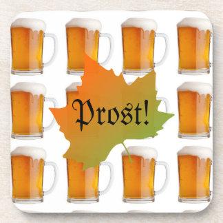 Prost Beer Mugs | German Oktoberfest Beverage Coaster