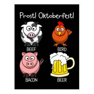 ¡Prost Oktoberfest 2 Tarjetas Postales