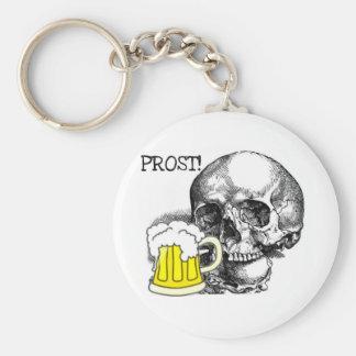 PROST! SKULL WITH BEER STEIN PRINT KEYCHAIN