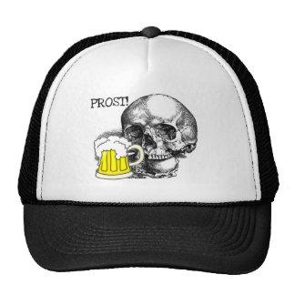 PROST! SKULL WITH BEER STEIN PRINT TRUCKER HAT