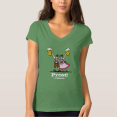 Prost! T-shirt Happy Oktoberfest Couple Beer Stein at Zazzle