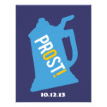 Prost Toast Mens 50th Birthday Party Invitation