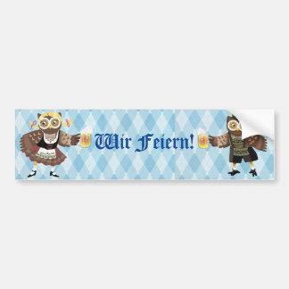 Prost! Wir Feiern Oktoberfest Car Bumper Sticker