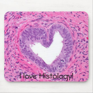 ¡próstata - corazón, amo la histología! mouse pad