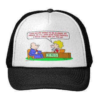 próstata del control del irs gorra