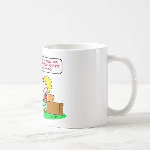 próstata del control del irs tazas de café
