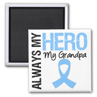 Prostate Cancer Always My Hero My Grandpa 2 Inch Square Magnet