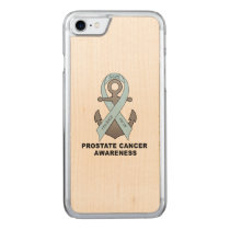 Prostate Cancer Anchor of Hope Carved iPhone 7 Case