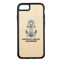 Prostate Cancer Anchor of Hope Carved iPhone 8/7 Case