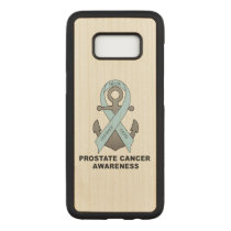 Prostate Cancer Anchor of Hope Carved Samsung Galaxy S8 Case