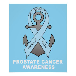 Prostate Cancer Anchor of Hope Poster