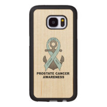 Prostate Cancer Anchor of Hope Wood Samsung Galaxy S7 Case