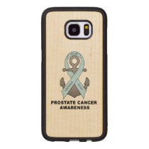Prostate Cancer Anchor of Hope Wood Samsung Galaxy S7 Edge Case