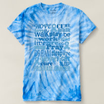 Prostate Cancer Awareness Blue Tie-Dye Tshirt