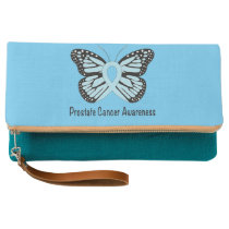 Prostate Cancer Awareness Butterfly Clutch