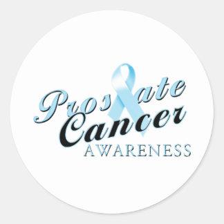 Prostate Cancer Awareness Classic Round Sticker
