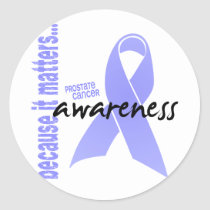 Prostate Cancer Awareness Classic Round Sticker
