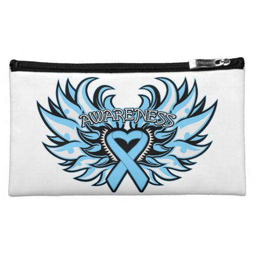 Prostate Cancer Awareness Heart Wings.png Cosmetic Bag
