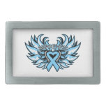 Prostate Cancer Awareness Heart Wings.png Belt Buckles