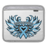 Prostate Cancer Awareness Heart Wings.png iPad Sleeve